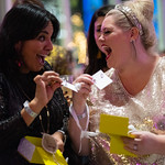 Friends opening Kendra Scott gifts