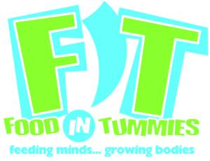 FIT - Food In Tummies Logo: Feeding Minds ... Growing Bodies