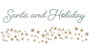 Santa and Holiday banner