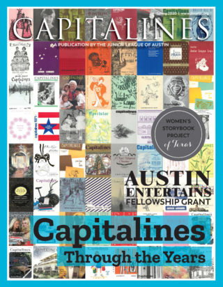 "Capitalines Spring 2020 Cover. ""Capitalines Through the Years."" Cover is a collage of Capitalines covers from the past."